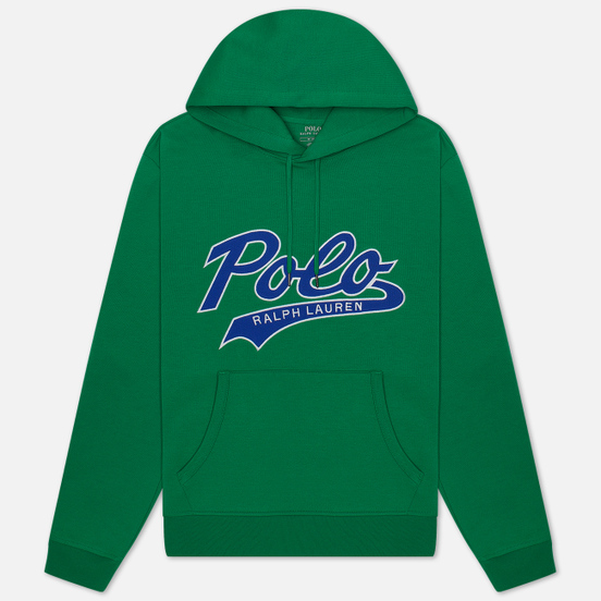 Мужская толстовка Polo Ralph Lauren Signature Logo Sporty Style Hoodie Chroma Green