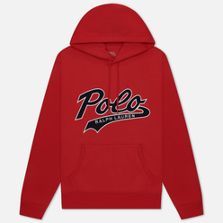 Мужская толстовка Polo Ralph Lauren Signature Logo Sporty Style Hoodie Red