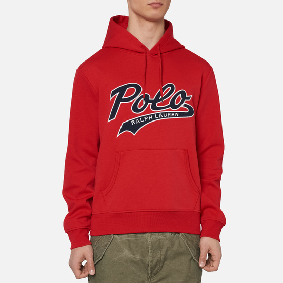 Мужская толстовка Polo Ralph Lauren Signature Logo Sporty Style Hoodie Red