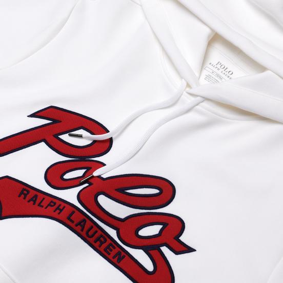 Мужская толстовка Polo Ralph Lauren Signature Logo Sporty Style Hoodie White