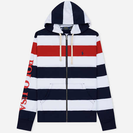 Мужская толстовка Polo Ralph Lauren Stripe Hoodie Aviator Navy/Multicolor