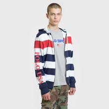 Мужская толстовка Polo Ralph Lauren Stripe Hoodie Aviator Navy/Multicolor фото- 1