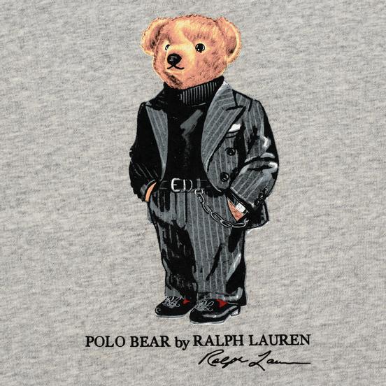 Мужская толстовка Polo Ralph Lauren Suit Bear Fleece Stadium Pepper Heather