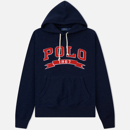 Мужская толстовка Polo Ralph Lauren Varsity Applique Logo Hoodie Cruise Navy
