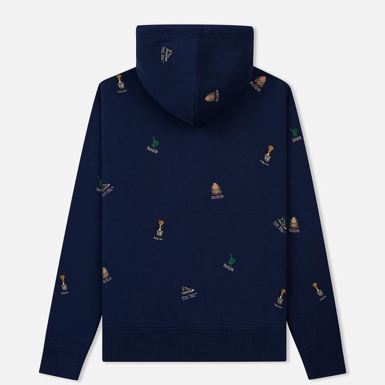 Мужская толстовка Polo Ralph Lauren Vintage Print Bear Hoodie Newport Navy