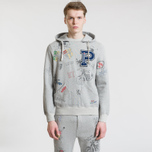 Мужская толстовка Polo Ralph Lauren Vintage Print Hoodie Light Grey Heather фото- 2