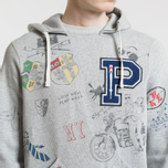 Мужская толстовка Polo Ralph Lauren Vintage Print Hoodie Light Grey Heather фото- 3