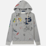 Мужская толстовка Polo Ralph Lauren Vintage Print Hoodie Light Grey Heather фото- 0