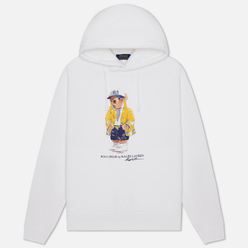 Мужская толстовка Polo Ralph Lauren Yachting Bear Magic Fleece Hoodie White