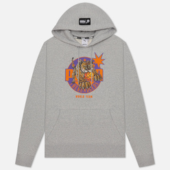 Мужская толстовка Puma x The Hundreds Print Hoodie Light Gray Heather