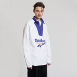 Мужская толстовка Reebok Classic Vector 1/4 Zip White фото- 2