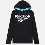 Мужская толстовка Reebok Classic Vector Hoodie Black/Turquoise фото- 0