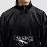 Мужская толстовка Reebok Classic Vector Velour Half-Zip Black фото- 3