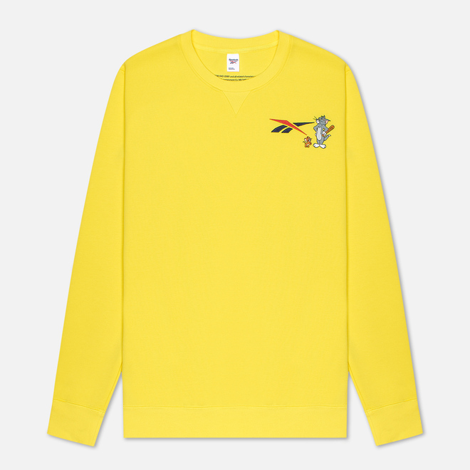 Мужская толстовка Reebok x Tom & Jerry Oversize Crew Neck Bright Yellow