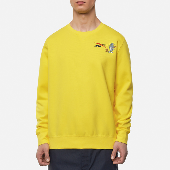 Мужская толстовка Reebok x Tom & Jerry Oversize Crew Neck Bright Yellow