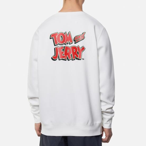 Мужская толстовка Reebok x Tom & Jerry Oversize Crew Neck White