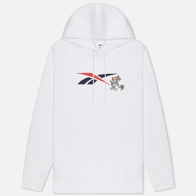 Мужская толстовка Reebok x Tom & Jerry Oversize Hoodie White