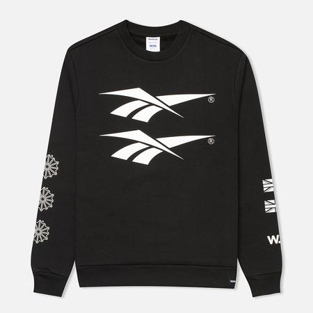 Reebok x Wood Wood Crewneck Men's Sweatshirt Black/White