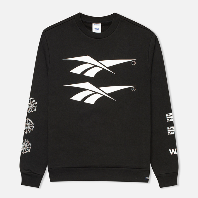 Мужская толстовка Reebok x Wood Wood Crewneck Black/White