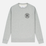 Мужская толстовка Reigning Champ Crest Logo Crew Neck Heather Grey фото- 0