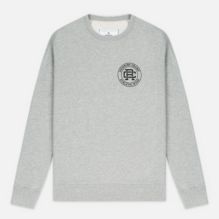 Мужская толстовка Reigning Champ Crest Logo Crew Neck Heather Grey