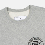 Мужская толстовка Reigning Champ Crest Logo Crew Neck Heather Grey фото- 1