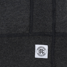 Мужская толстовка Reigning Champ Crew Neck Midweight Twill Terry Heather Charcoal фото- 3