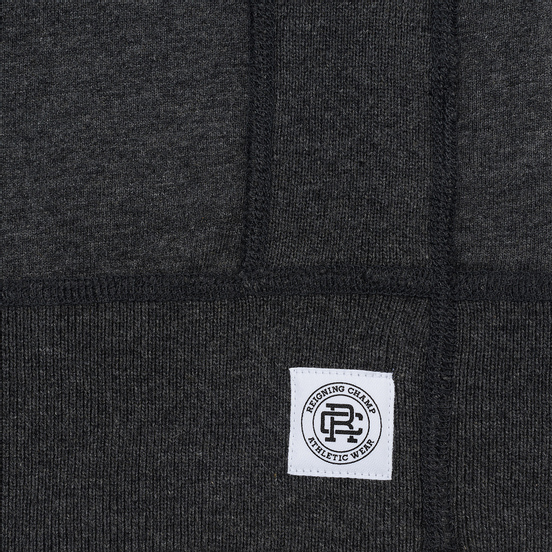 Мужская толстовка Reigning Champ Crew Neck Midweight Twill Terry Heather Charcoal