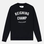 Reigning Champ Gym Logo Crew Neck Men's Sweatshirt Black photo- 0