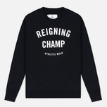 Мужская толстовка Reigning Champ Gym Logo Crew Neck Black фото- 0