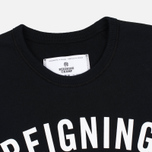 Мужская толстовка Reigning Champ Gym Logo Crew Neck Black фото- 1