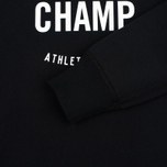 Мужская толстовка Reigning Champ Gym Logo Crew Neck Black фото- 2