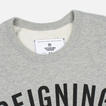 Мужская толстовка Reigning Champ Gym Logo Crew Neck Heather Grey фото- 1
