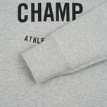Мужская толстовка Reigning Champ Gym Logo Crew Neck Heather Grey фото- 2