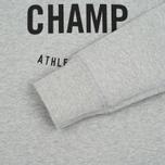 Мужская толстовка Reigning Champ Gym Logo Crew Neck Heather Grey фото- 2