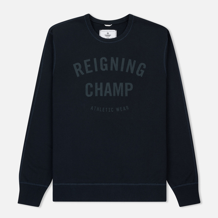 Мужская толстовка Reigning Champ Gym Logo Crew Neck Navy/Steel