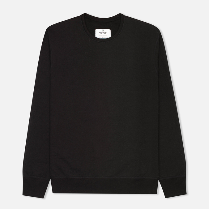Мужская толстовка Reigning Champ Heavyweight Terry Crewneck Black