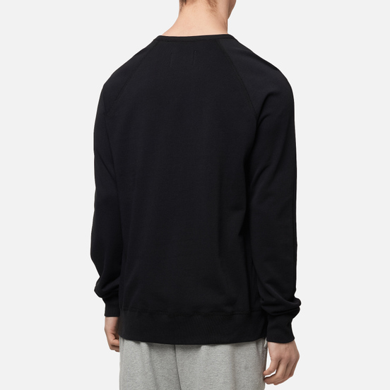 Мужская толстовка Reigning Champ Knit Lightweight Terry Crew Neck Black