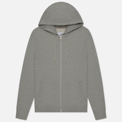 Мужская толстовка Reigning Champ Knit Lightweight Terry Full Zip Hoodie Heather Grey