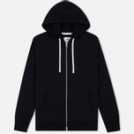 Мужская толстовка Reigning Champ Midweight Terry Full Zip Black фото- 0