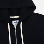 Мужская толстовка Reigning Champ Midweight Terry Full Zip Black фото- 1
