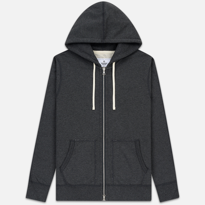 Мужская толстовка Reigning Champ Midweight Terry Full Zip Heather Charcoal