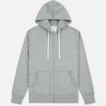 Мужская толстовка Reigning Champ Midweight Terry Full Zip Heather Grey фото- 0