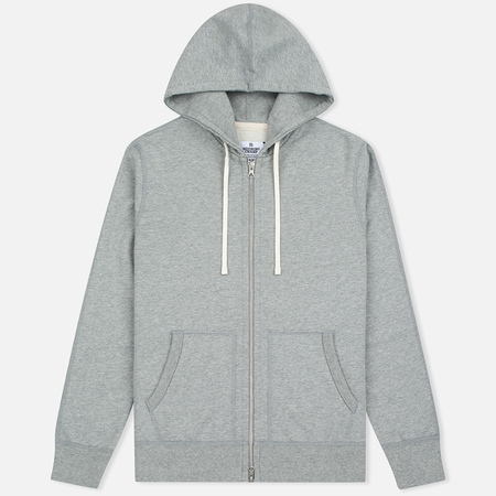 Reigning Champ Midweight Terry Full Zip Men's Hoody Heather Grey