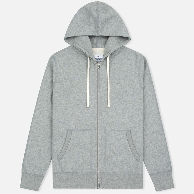 Мужская толстовка Reigning Champ Midweight Terry Full Zip Heather Grey