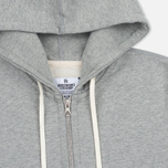 Мужская толстовка Reigning Champ Midweight Terry Full Zip Heather Grey фото- 1