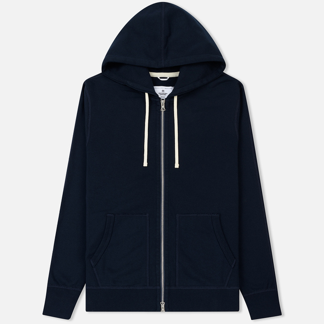 Мужская толстовка Reigning Champ Midweight Terry Full Zip Navy