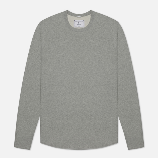 Мужская толстовка Reigning Champ Midweight Terry Scalloped Crew Neck Heather Grey