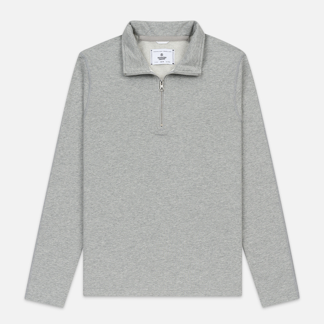 Мужская толстовка Reigning Champ Pima Lightweight Terry Half Zip Pullover Heather Grey