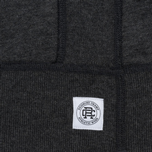Мужская толстовка Reigning Champ Pullover Midweight Twill Terry Heather Charcoal фото- 1